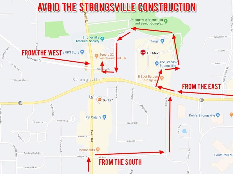 Avoiding The Strongsville Construction Traffic