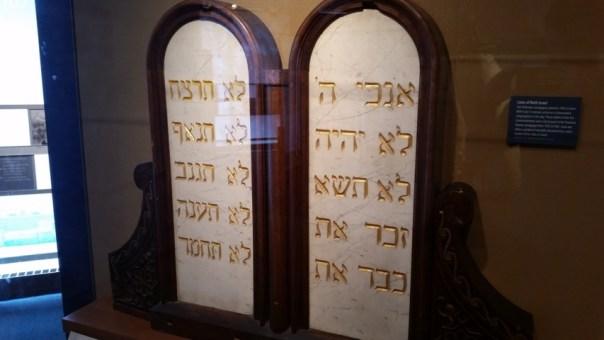 Commandment stones.