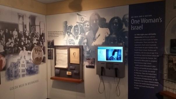Golda Meir exhibit.