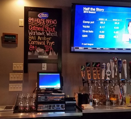Their five brews on the board and on tap.