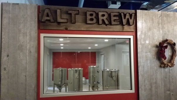 The small-batch brewing system at Alt Brew in Madison, WI. All photos by Joe Powell.