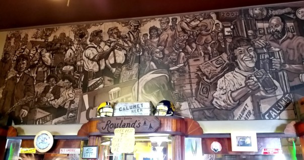 The one-of-a-kind, impressively-detailed Rowland mural.