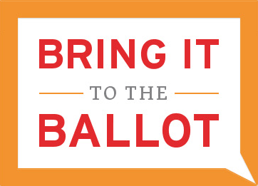 Bring It to the Ballot initiative logo. Screenshot from www.BringIt.WI.gov.