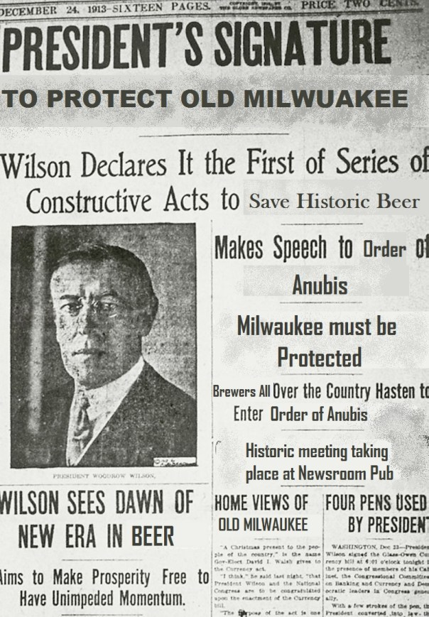 Just some of the historical moments behind Old Milwaukee and the Order of Anubis