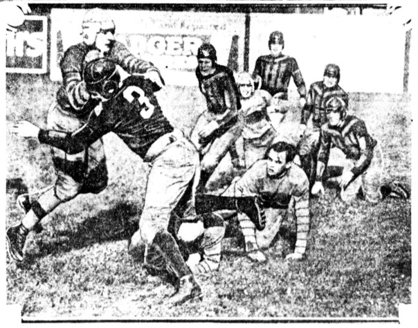 Photo sourced from the September 27, 1926 Milwaukee Sentinel and http://www.borchertfield.com/2010/01/milwaukees-own-football-badgers.html of the Milwaukee Badgers NFL football team playing the Detroit Panthers at Athletic Park.