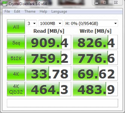 Samsung 512GBx2 RAID0 CDM