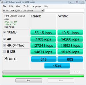 Samsung 840 Pro 512GB SSD RAID 0 AS SSD RAID Copy Bench IOPS