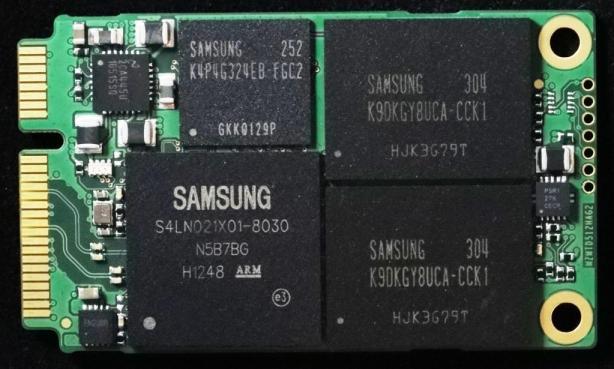 Samsung PM841 512GB mSATA PCB front