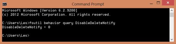 Windows 8 SSD Optimization Checking TRIM