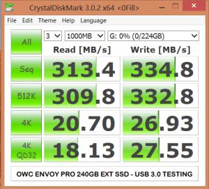OWC Envoy Pro USB3 CDM Tests
