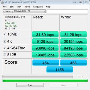 Samsung 840 EVO 1TB SSD AS SSD IOPS