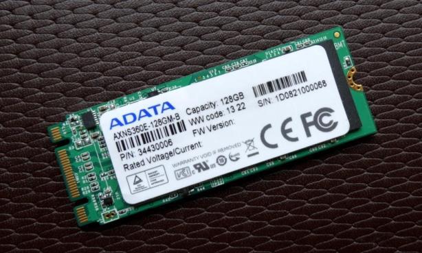 ADATA MPCIe 128GB Angled