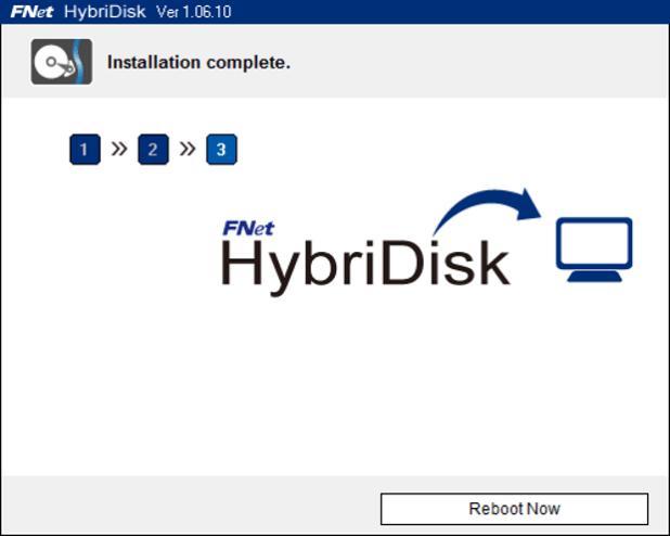HybriDisk installation complete