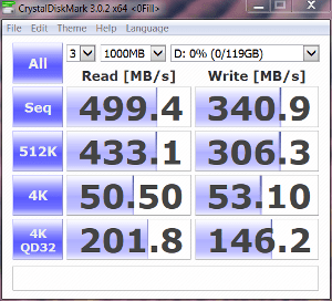 SSD only Crystal DiskMark 0-fill