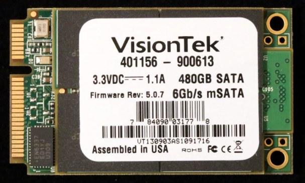 Visiontek 480GB mSATA SSD PCB Front1