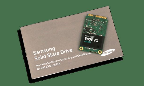 Samsung 840 EVO mSATA 1TB SSD Manual