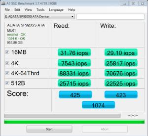 ADATA SP920 Premier Pro 1TB SSD AS SSD IOPS