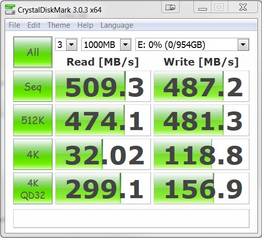 ADATA SP921 Premier Pro 1TB SSD Crystal DiskMark