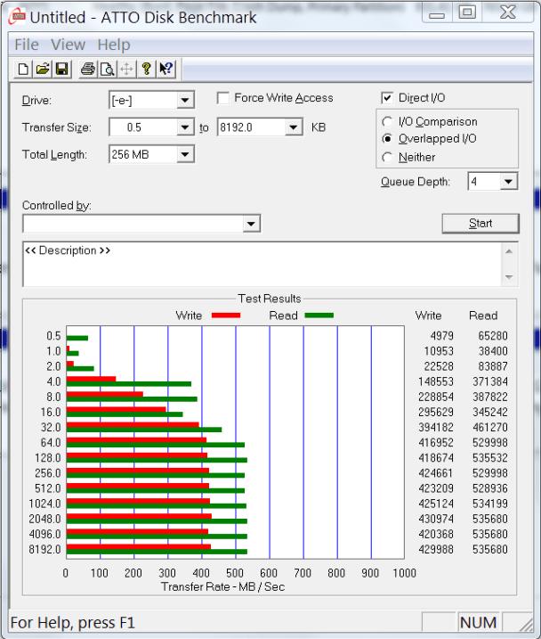 Kingston 16GB SSD ATTO