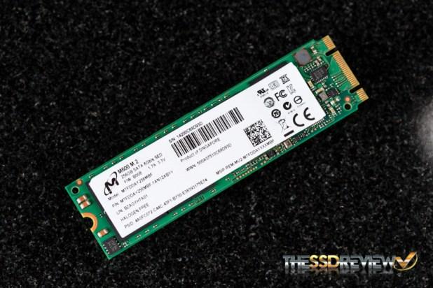 Micron M600 M.2 256GB Angled