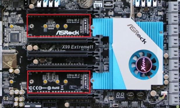 ASRock X99 Extreme11 Motherboard M.2 slots