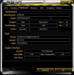 CPUZ Mainboard