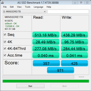 Mushkin Reactor 1TB AS SSD