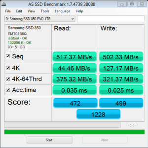 Samsung 850 EVO 1TB AS SSD