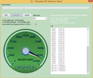 Samsung 850 EVO 1TB Anvil IOPS Read