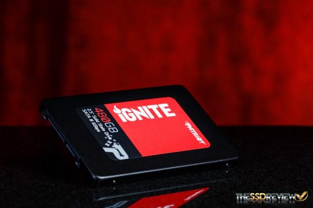 Patriot Ignite 480GB Angled red