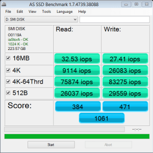 Silicon Motion SM2256 AS SSD IOPS
