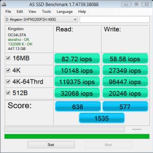 Kingston HyperX Predator AS SSD IOPS