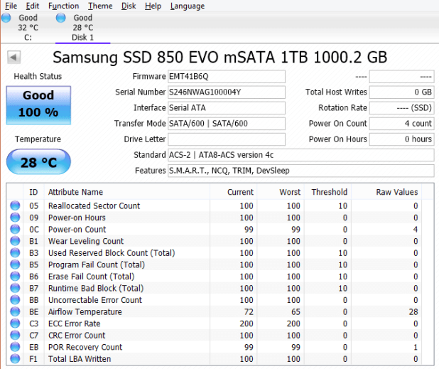 Samsung 850 EVO mSATA 1TB CDI