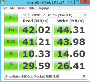 USB 2.0 Angelbird SSD2go Pocket