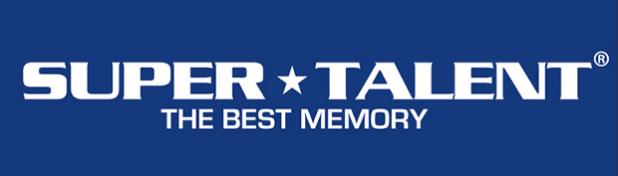 SuperTalent logo blue background