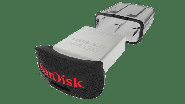 SanDisk UltraFit USB 3point0 flash drive angled