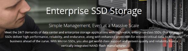 Micron enterprise SSD banner
