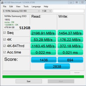 Samsung 950 Pro 512GB M2 SSD AS SSD Bench 1