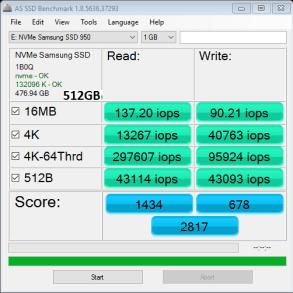 Samsung 950 Pro 512GB M2 SSD AS SSD IOPS 1