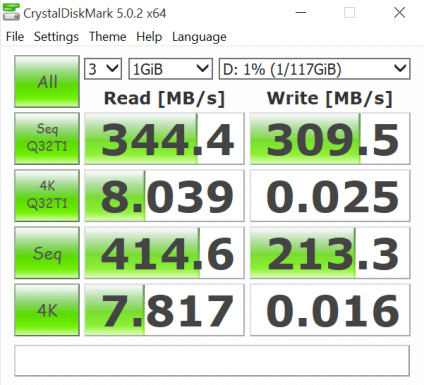 Kingston HyperX Savage 128 USB3.1 Flash Drive CDM 2