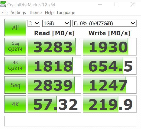 RAIDSamsung SSD 950 Pro m2 512GB CDM