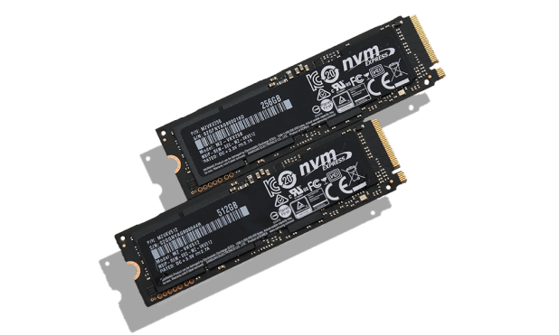 Samsung 950 Pro NVMe M2 512 and 256GB SSDs