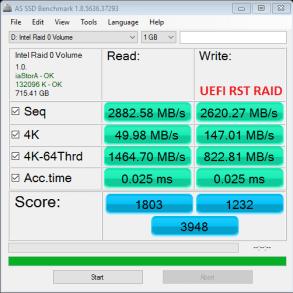 Samsung NVMe RAIDx3 BIOS RST AS SSD