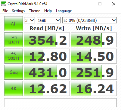 Lexar Portable SSD Tests 3