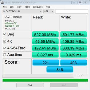 OCZ Trion 150 480GB SSD AS SSD