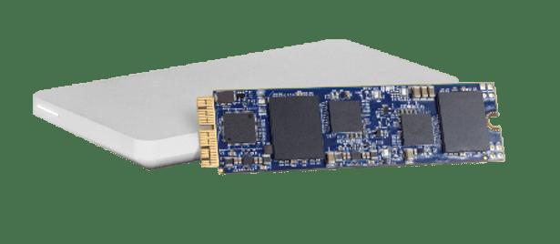 OWC Aura PCIe SSD and enclosure