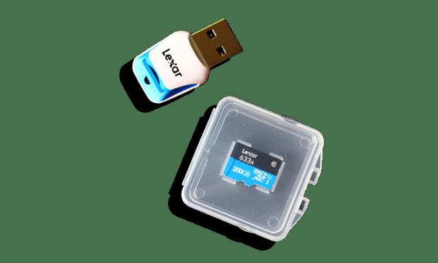 Lexar 200GB 633x microSDXC UHS-1 Card with USB