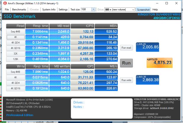 Kingston SSDNow UV400 480GB ANVIL