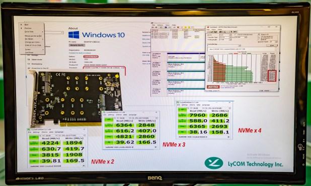 Lycom Multi-M2 SSD Comparison