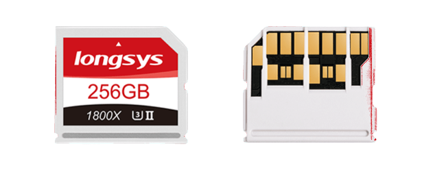 Longsys memory card front and rear